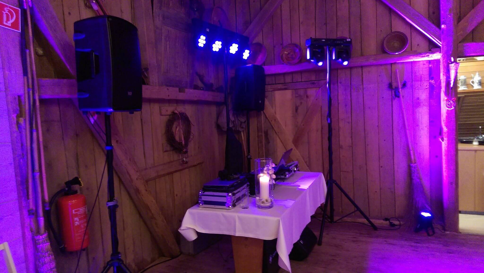 Hochzeit 2016 - Hochzeits-DJ, Tontechnik, Lichttechnik von Brilliant Event